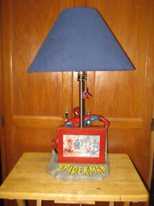 """24"""" spider-man desk & table lamp. home made. price firm."""
