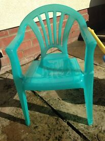 Childs plastic chair £2