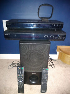 SONY HOME THEATER WITH SURROUNDED SOUND SYSTEM