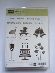 Clear mount Stampin Up Stamp Sets