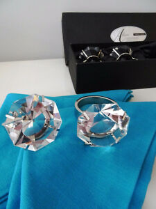 diamonds GIRL'S BEST FRIEND glass crystal napkin ring holders x4 Kitchener / Waterloo Kitchener Area image 10