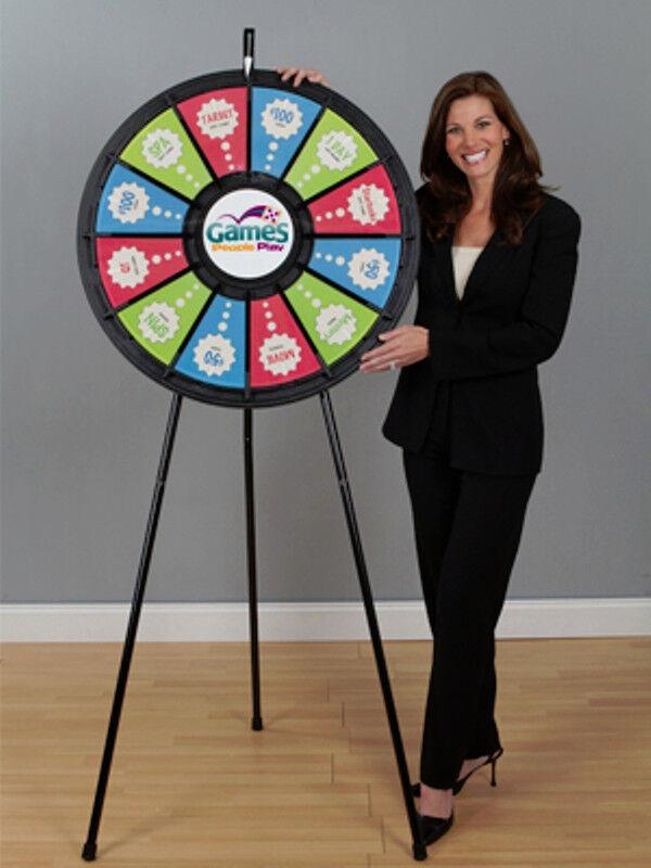 12 Slot Black Floor Stand 31 Inch Prize Wheel