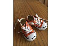 Orange converse exc condition baby boy/girl