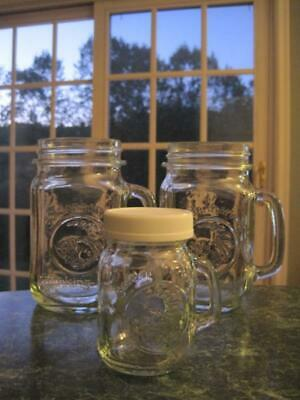 Mason Jar Mugs Bulk ((2) MASON GOLDEN HARVEST DRINKING JARS~GLASSES~MUGS~SALT)