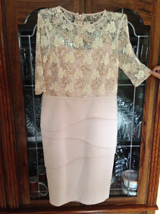 SIZE 8 MOTHER OF THE BRIDE DRESS & EARRINGS