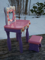 Child's Vanity with Matching Stool