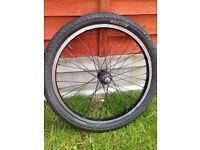 Bmx bike front wheel complete