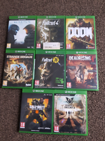 EIGHT XBOX ONE GAMES FOR SALE