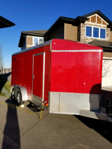 14ft x 7ft ( 2ft V) Enclosed Trailer