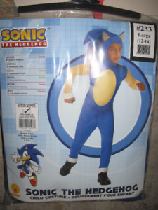NEW~Rubies SONIC HEDGEHOG Halloween Child Outfit Costume