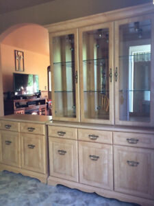 China Cabinet with Buffet and hutch and server