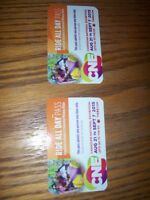 2 CNE RIDE ALL DAY passes plus Admission