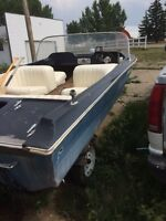 1960's classic boat and trailer