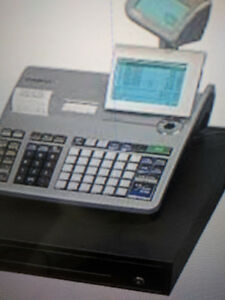casio PCRt2400 used twin thermal cash register, ez2program, used