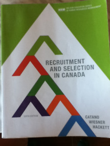 recruitment and selection in canada 6th edition