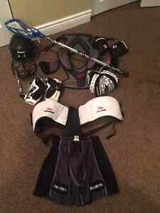 Youth Large Complete Lacrosse Equipment Used 1 Season