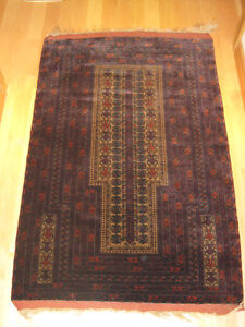 Antique Tribal Balouch Koudani Prayer Rug