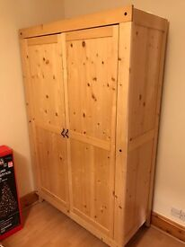 Pine Wardrobe, great condition, must be collected today or tomorrow morning