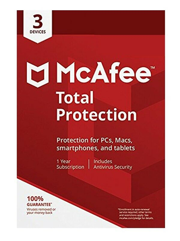McAfee Total Protection 3 Device Free Upgrade Latest 2021 Digital download only