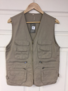 Mens  Casual Work Utility Fishing Hunting Travels  Vest