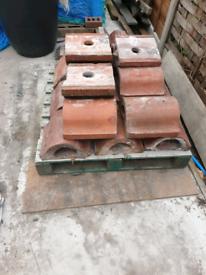 18 terracotta reclaimed coping tops