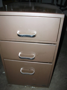 """Metal legal 3 drawer filing cabinet 15"""" wide by 18"""" deep by 26"""""""