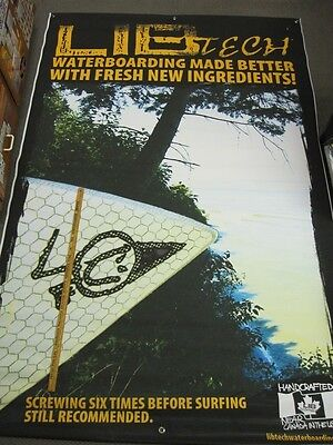 LIB TECH snowboard Surfing Better Massive Trade Show Banner #22 Rare Old (Best Trade Show Banners)