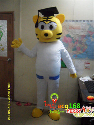 Adults Doc.Tiger Mascot Costume Suit Tane Mahuta Party Dress Outfits Halloween (Tiger Mascot Suit)