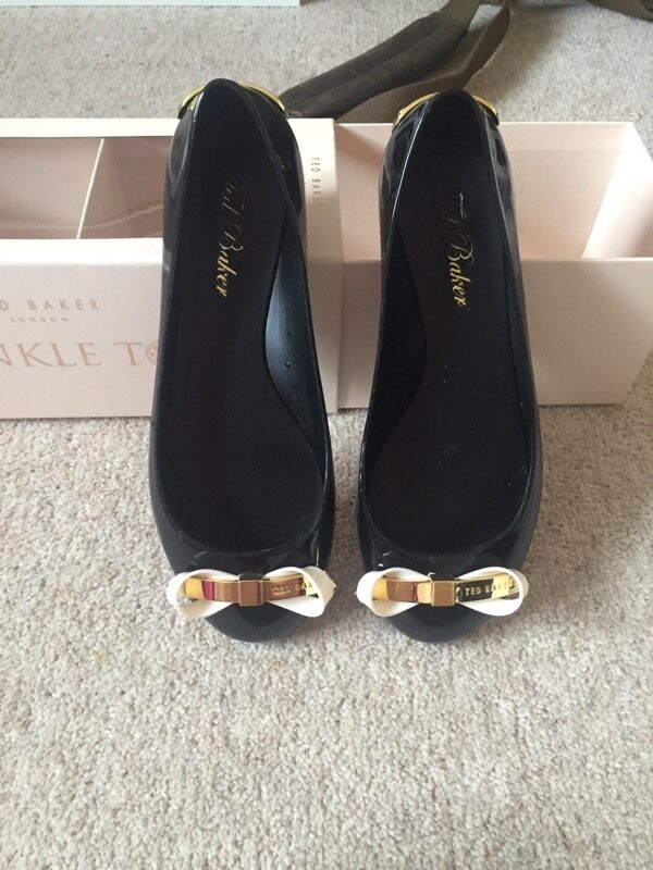 7f795af21434 Ted baker size 4 black jelly shoes. In box.