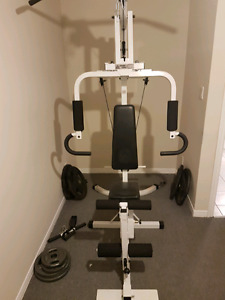 Universal gym weights not included