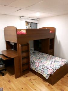 Twin Bunk Bed with Dresser