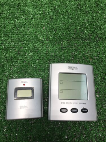 Outdoor Indoor Thermometer Digital Wireless RV Living Solution Small Alarm Clock