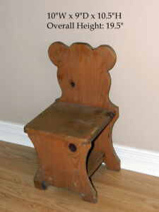 Infantino Picture Frame Musical Mobile & Wood Antique Bear Chair