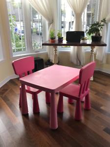Table et chaises pour enfants IKEA (Mammut)