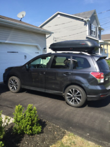 2017 Subaru Forester 2.0XT. Winter tires on rims, tow, crossbeam