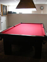 5x9 Slate Top 9 Ball Table & All Accessories Including Light