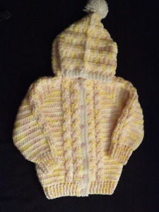 girls crocheted jacket