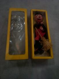 Vintage Pelham Puppet. WITCH. in box.