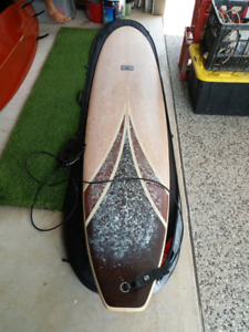 "9'0 x 22"" x 2 5/8"" longboard -immaculate condition"