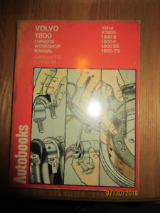 1960 to 1973 Volvo P1800 owners Workshop Manual all models