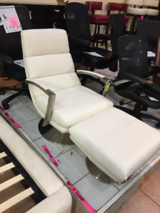 Chair and Ottoman Top Grain Leather Brand new