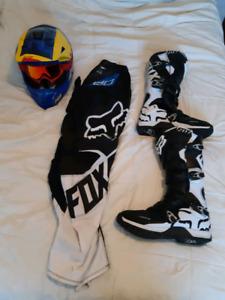 Fox and THOR dirt bike gear