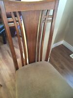 Solid wood, dining table & 6 chairs