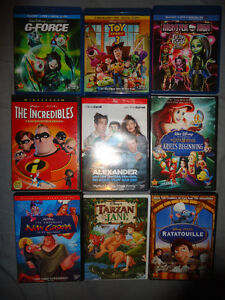 DISNEY DVDS AND BLURAYS