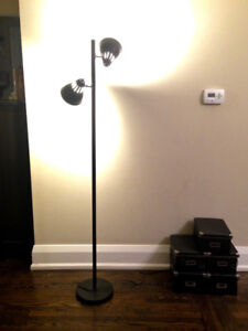 Floor Lamp With 2 Adjustable Spotlights (bulbs included)
