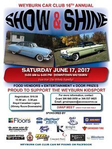 2017 WEYBURN CAR CLUB SHOW and SHINE