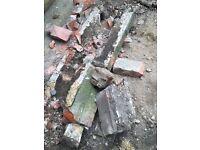 Free rubble from garden. Broken bricks. Several tonnes avail.