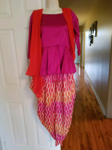 Peplum shirt with dhoti shalwar (pants) and duppatta $145 OBO