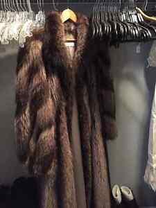 Ladies Raccoon Fur Coat