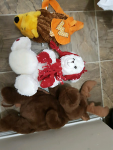 Lot of stuffies backpack